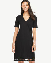 Ann Taylor Tassel Hem Shift Dress