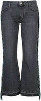 Thumbnail for your product : Alanui Fringed Cropped Jeans