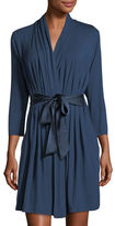 Fleurt Fleur't Take Me Away Travel Robe with Silk Inset Belt and Hidden Pockets