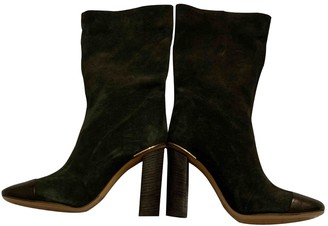 Chloé Lexie Green Suede Ankle boots