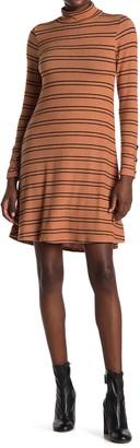 Velvet Torch Slater Striped Mock Neck Sweater Dress