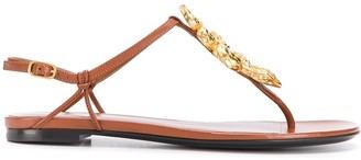 Valentino Snake thong-strap sandals
