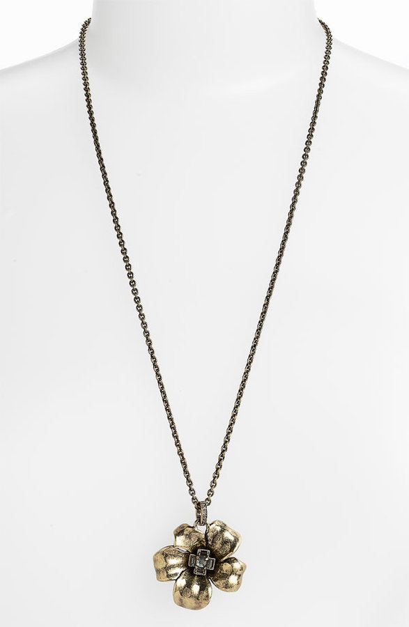 Marc by Marc Jacobs Long Flower Pendant Necklace