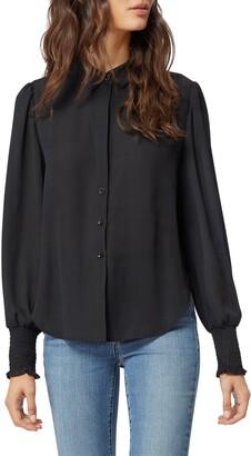 Habitual Sage Smocked Cuff Shirt