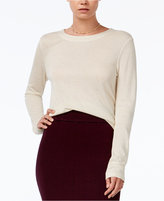 Bar III Cropped Metallic Knit Top, Only at Macy's