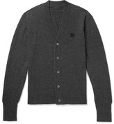 Acne Studios Neve Mélange Wool Cardigan - Charcoal