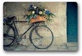 """Lai en zhou Vintage Bicycle and Flower Bike Non-woven Fabric Door Mat Indoor/Outdoor/Bathroom Doormat Rugs for Home/Office/Bedroom 23.6""""(L) x 15.7""""(W)"""