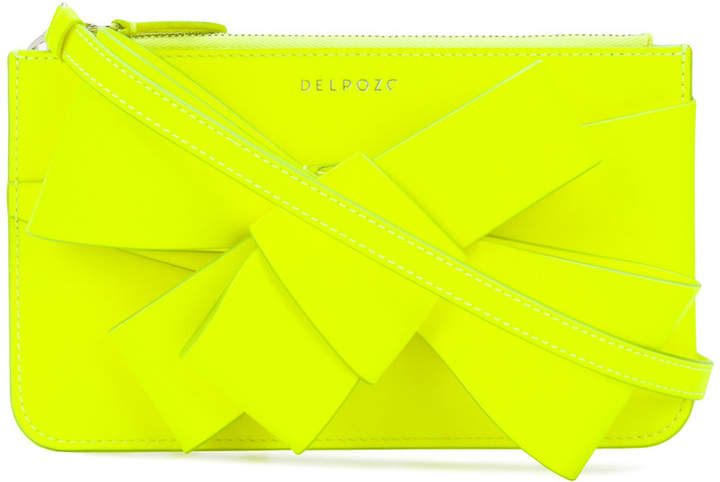 DELPOZO structured bow clutch bag