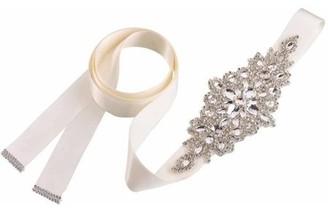 Lillian Rose Rhinestone Bridal Belt, Ivory