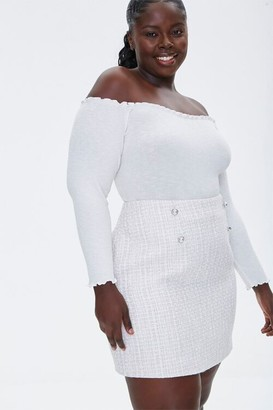 Forever 21 Plus Size Tweed Mini Skirt