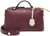 Fendi By The Way Small Color-block Leather Shoulder Bag - Burgundy