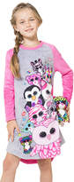 Intimo Beanie Boos Party Fleece Raglan Nightgown - Girls