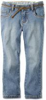 Carter's Belted Denim Jeans. Little Girls (2-6X)
