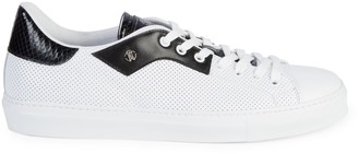 Roberto Cavalli Low-Top Perforated Sneakers