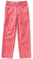 Class Club Big Boys 8-20 Schifli Embroidered Star Fish Flat Front Pants