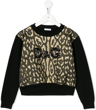 Dolce & Gabbana Kids Leopard Print Sweatshirt