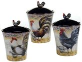 Certified International Vintage Rooster 3-pc. Kitchen Canister Set