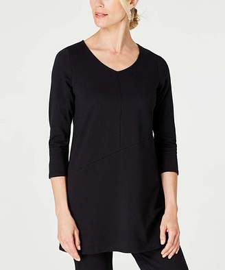 J. Jill J.Jill Women's Tunics BLACK - Black Pure Jill Multi-Seam V-Neck Tunic - Women