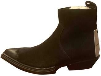 Balenciaga Santiag Harness Black Suede Boots