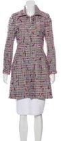 Tibi Tulle Embellished Tweed Coat