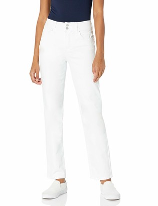 7 For All Mankind Seven7 Women's High Rise Double Button Tummyless Straight Jean