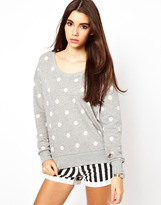 Only Polka Dot Sweat Top