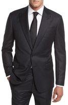 Giorgio Armani Flannel Stripe Wool Two-Piece Suit