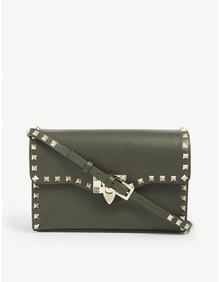 Valentino Rockstud leather cross-body satchel