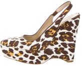 Stella McCartney Leopard Printed Platform Wedges