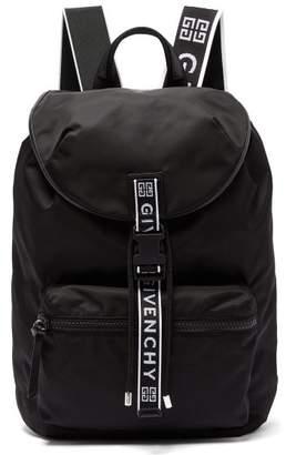 Givenchy Light 3 Leather Trimmed Nylon Backpack - Mens - Black White