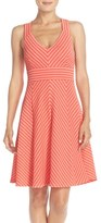 Adrianna Papell Women's Stripe Ottoman Knit Sundress