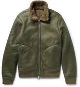 Officine Generale Sasha Shearling Flight Jacket - Army green