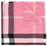 Burberry check pattern scarf - kids - Merino - One Size