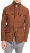 Ermenegildo Zegna Four-Pocket Suede Safari Jacket