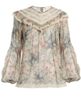 Zimmermann Cavalier floral-print silk-chiffon top