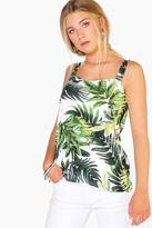 Boohoo Summer Tropical Print Wide Strap Cami