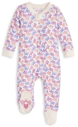 Burt's Bees Baby Newborn Baby Girls Organic Sleep 'N Play Footed Pajamas (NB-9M)