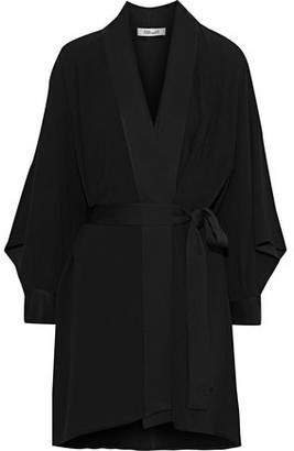 Diane von Furstenberg Deon Belted Crepe Mini Dress