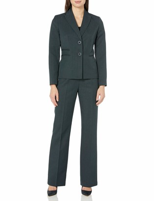 Le Suit LeSuit Women's 2 Button Peak Lapel Pant Suit