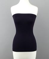 Black Strapless Tummy-Control Camisole