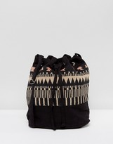 Reclaimed Vintage Inspired Patterned Bucket Bag