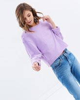 Miss Selfridge Lilac Crop Sweater
