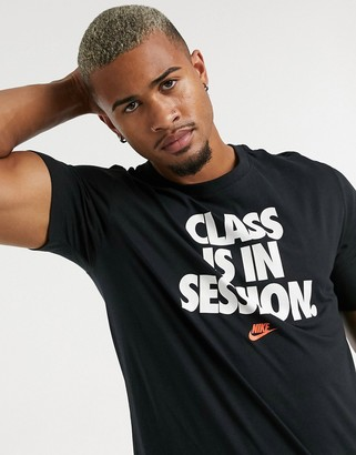 Nike 'Class Is In Session' t-shirt in black