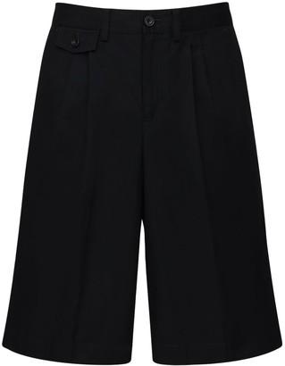 Burberry Cotton Canvas Shorts W/ Heritage Stripe