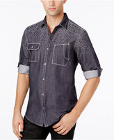INC International Concepts Men's Chambray Jacquard Shirt, Created for Macy's