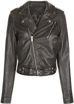 BLK DNM Black Cropped Leather Jacket 1
