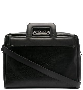 Marsèll Embossed Logo Square Handle Laptop Bag