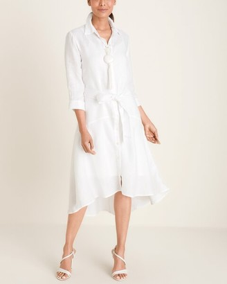 Chico's High-Low Hem Linen Dress