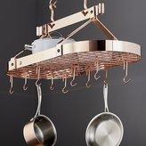 Crate & Barrel Enclume ® Oval Copper Ceiling Pot Rack