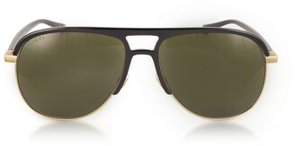 Gucci GG0292S Metal and Acetate Frame Aviator Sunglasses